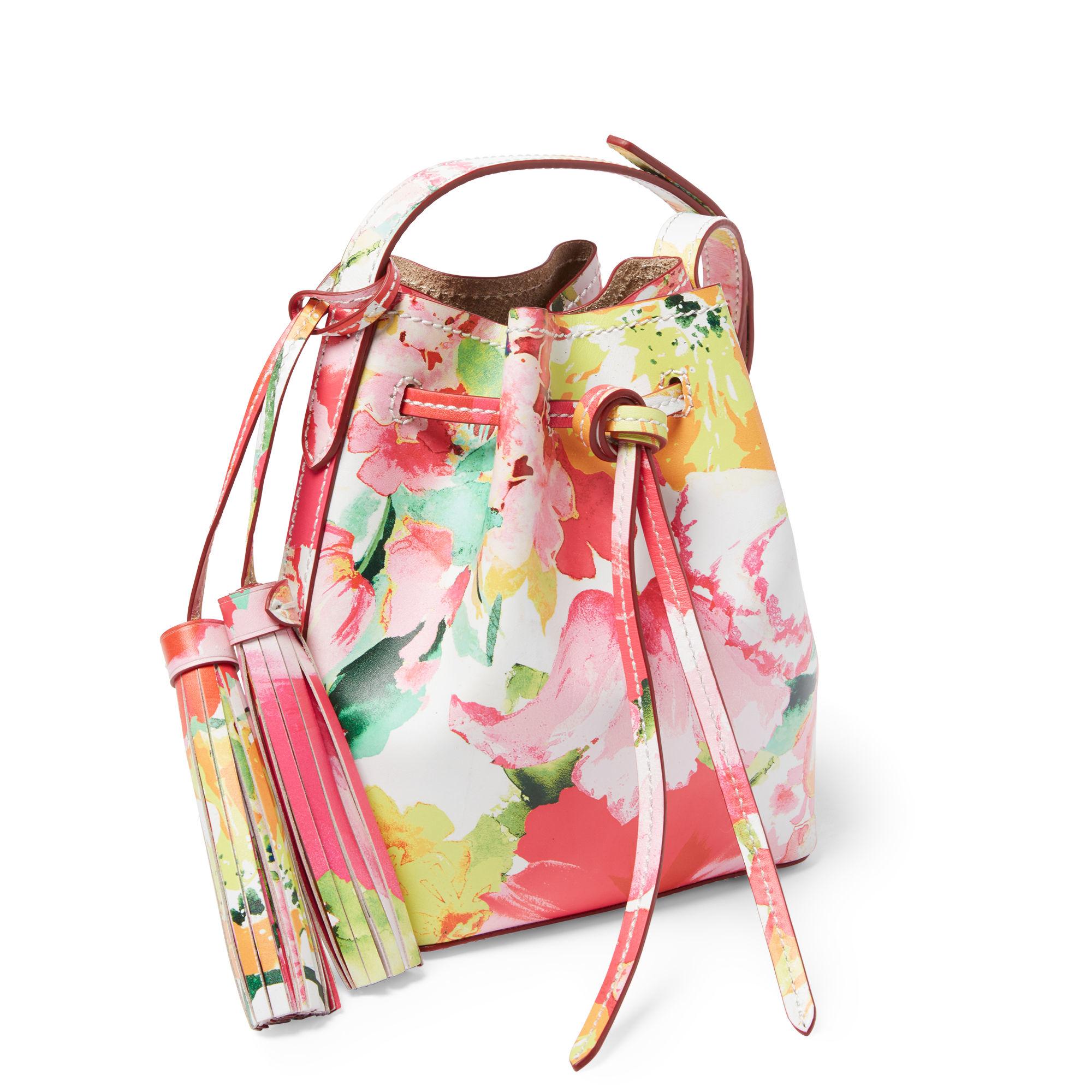 745b104cd4 where to buy polo ralph lauren mini cross body bucket bag in pink lyst  3f61f 5a345