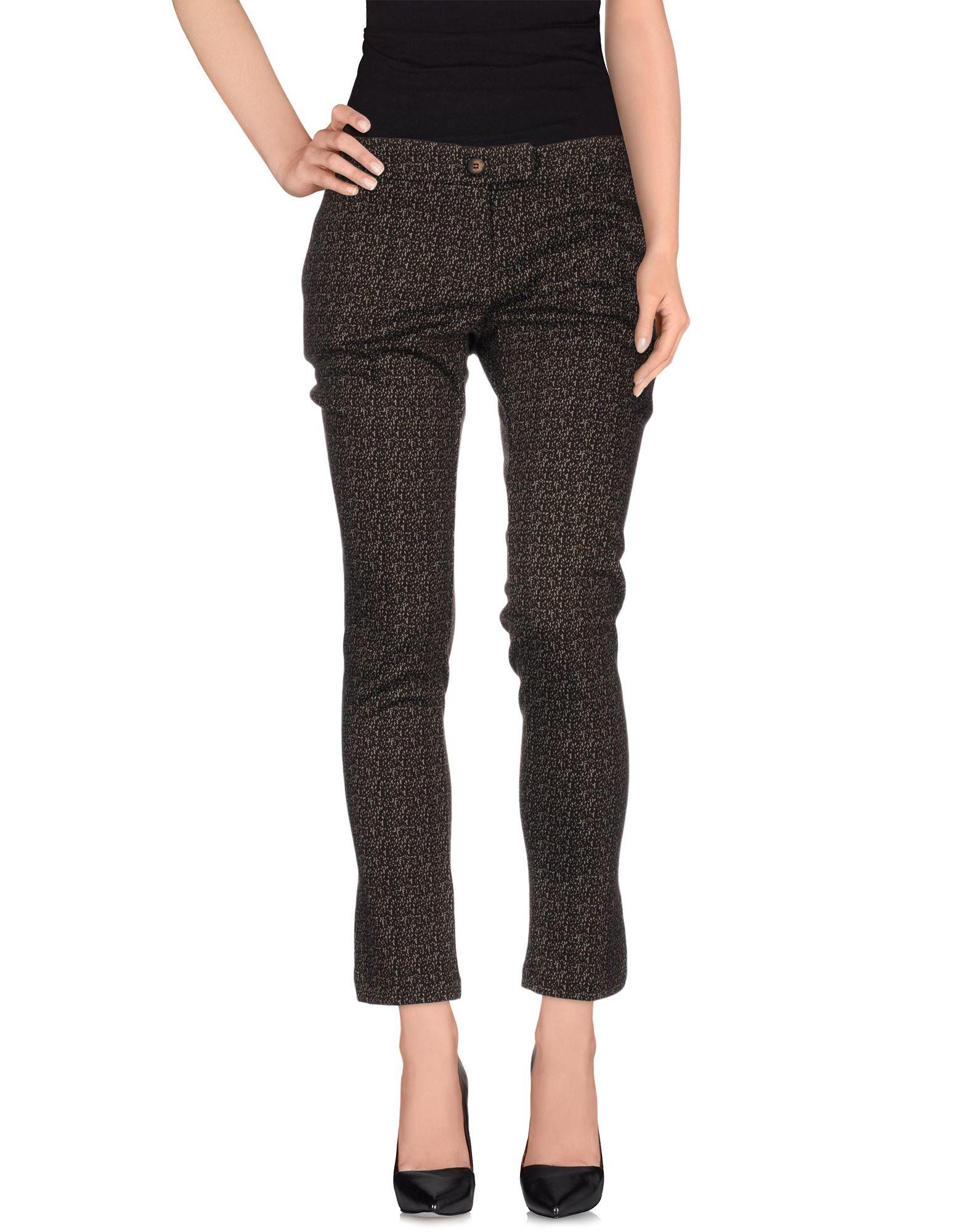 Agatha Cri Synthetic Casual Pants in Dark Brown (Brown)