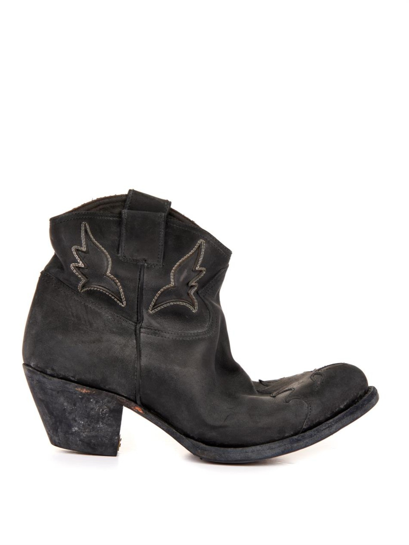 61afeaa482b Golden Goose Deluxe Brand Sydney Distressed-Leather Ankle Boots in ...
