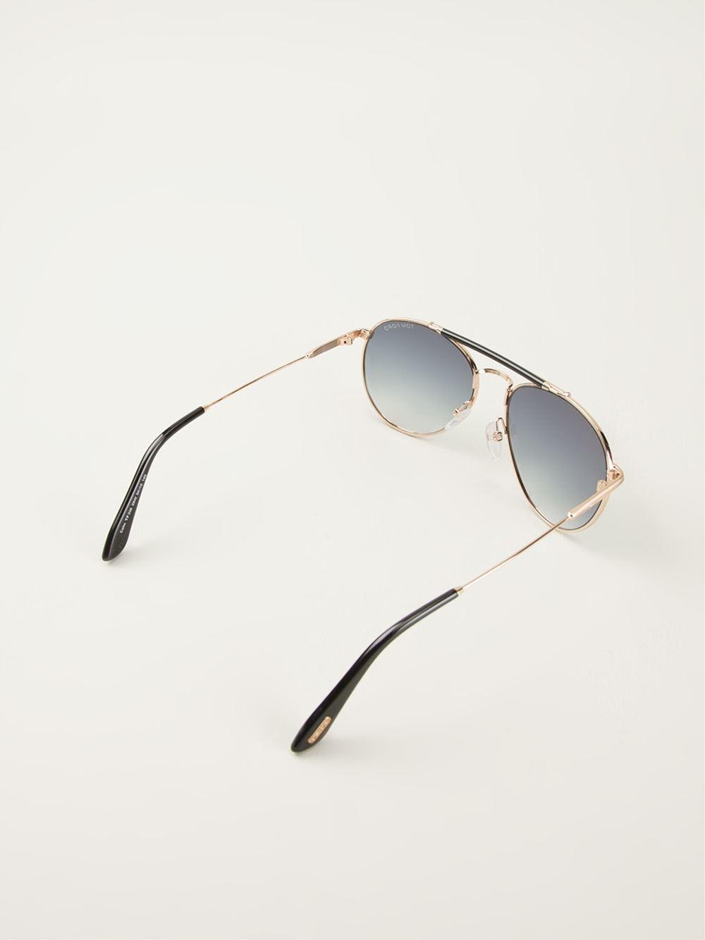 Tom Ford Colin Aviator Sunglasses in Blue for Men