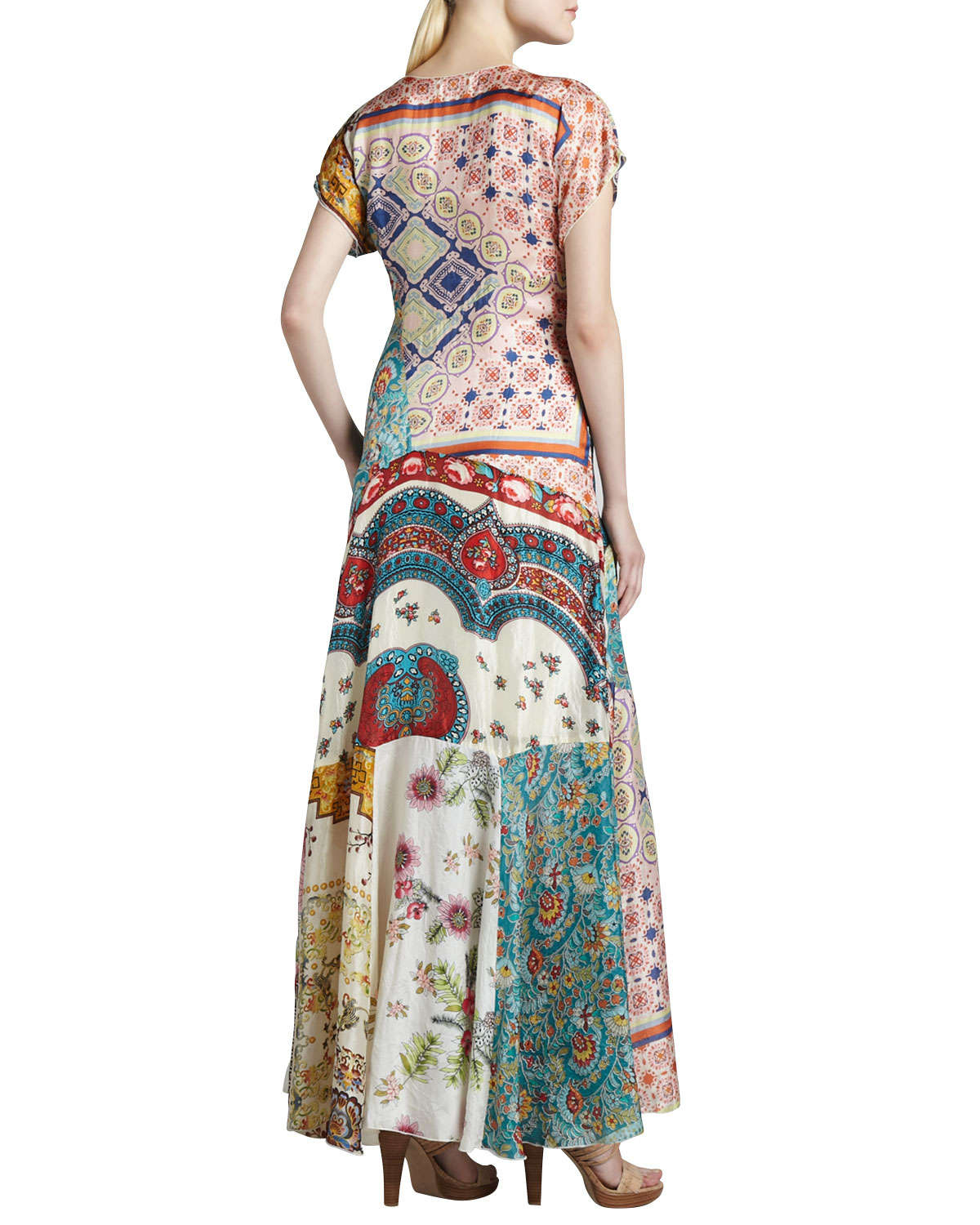Lyst - Johnny Was Long Patchwork Dress