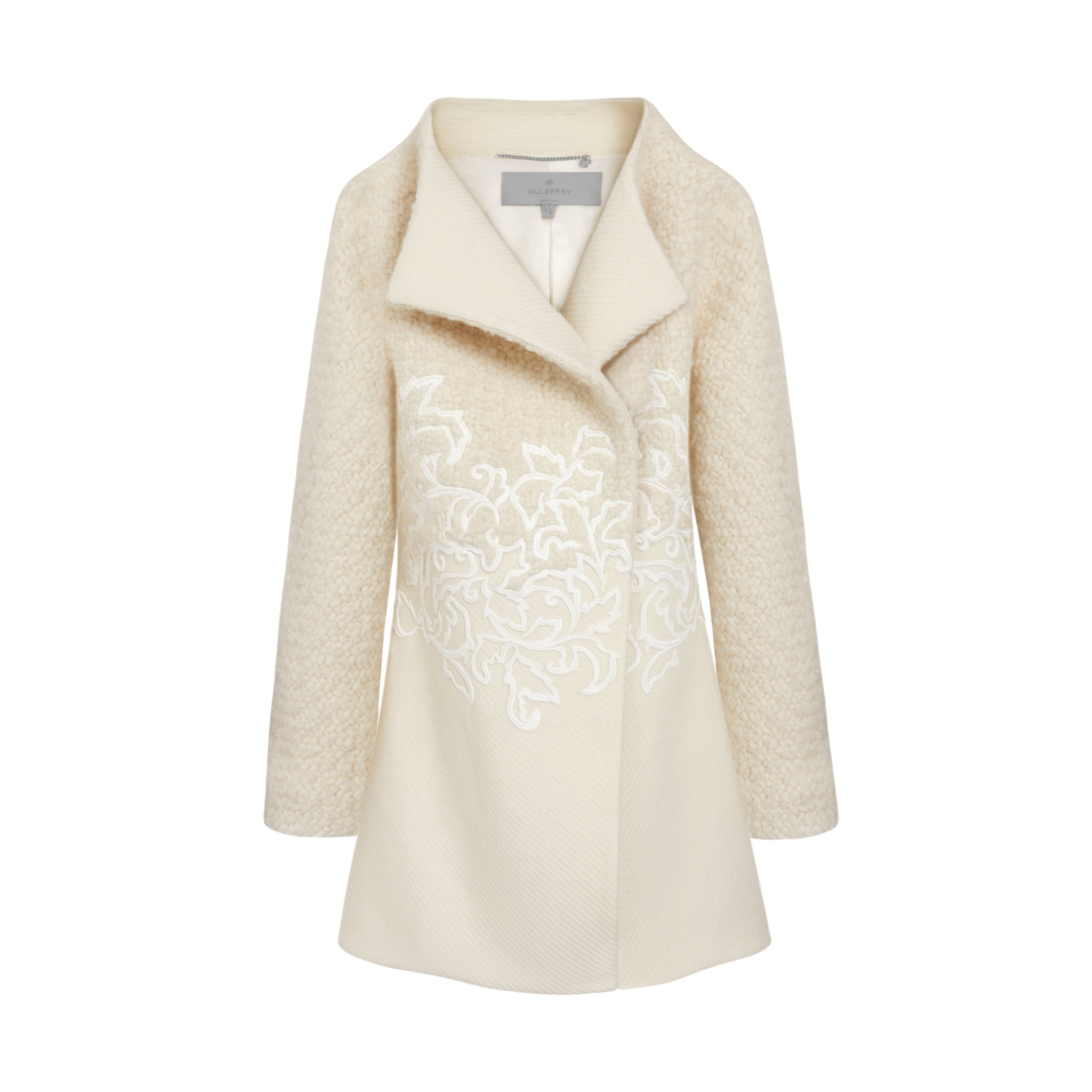 Mulberry Embroidered Fitted Dixter Coat in Natural   Lyst