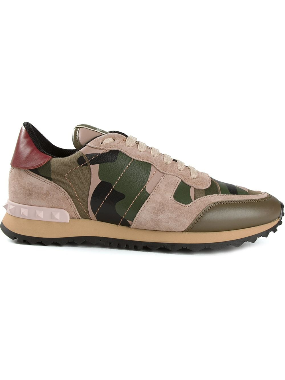 Valentino Rockrunner Sneakers In Green Lyst