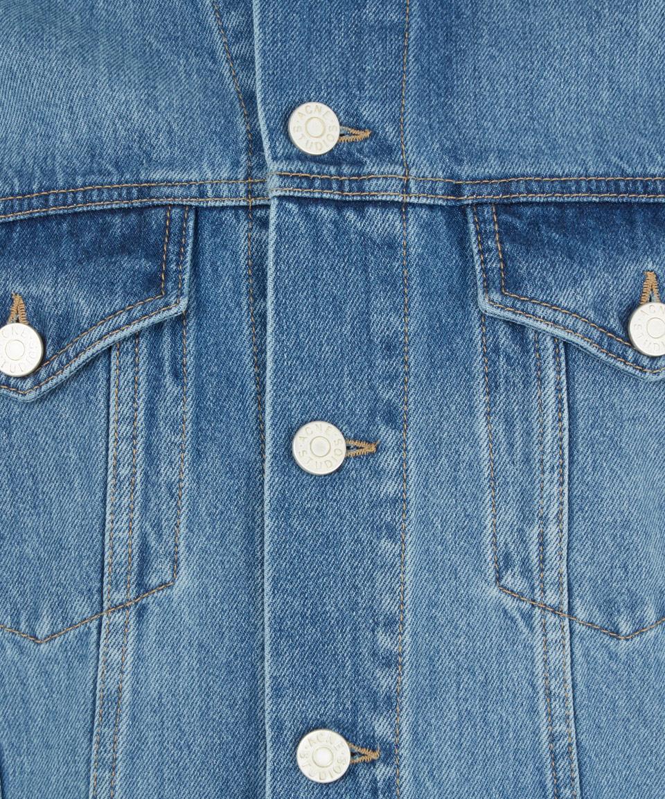 Acne Studios Blue Jam Vintage Wash Denim Jacket for Men
