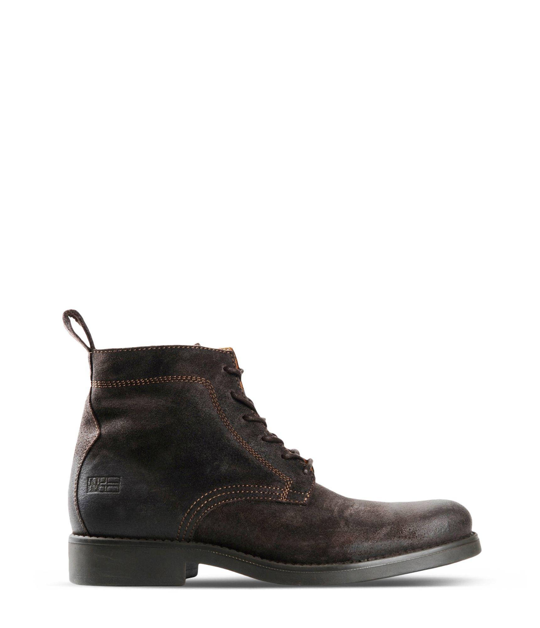 napapijri combat boots in brown for men dark brown lyst