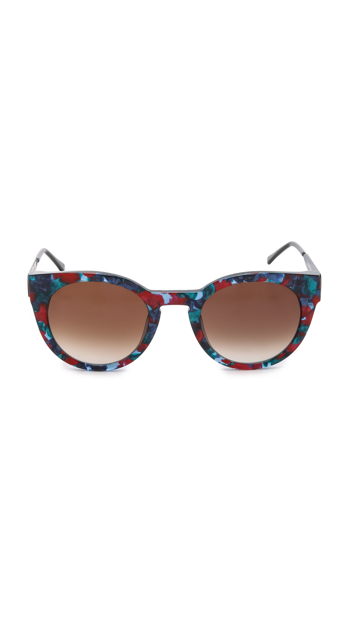 Thierry Lasry Creamily Sunglasses - Blue Red Green/brown