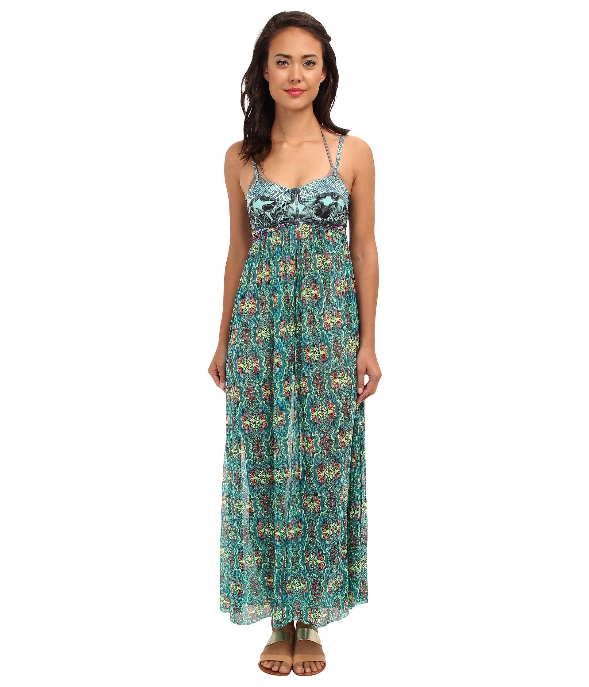 ffbbb6abf7cfb Lyst - Maaji Chimera Goddess Long Dress Cover Up in Green