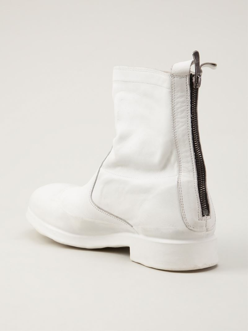 Oxs Rubber Soul Ankle Boot in White for