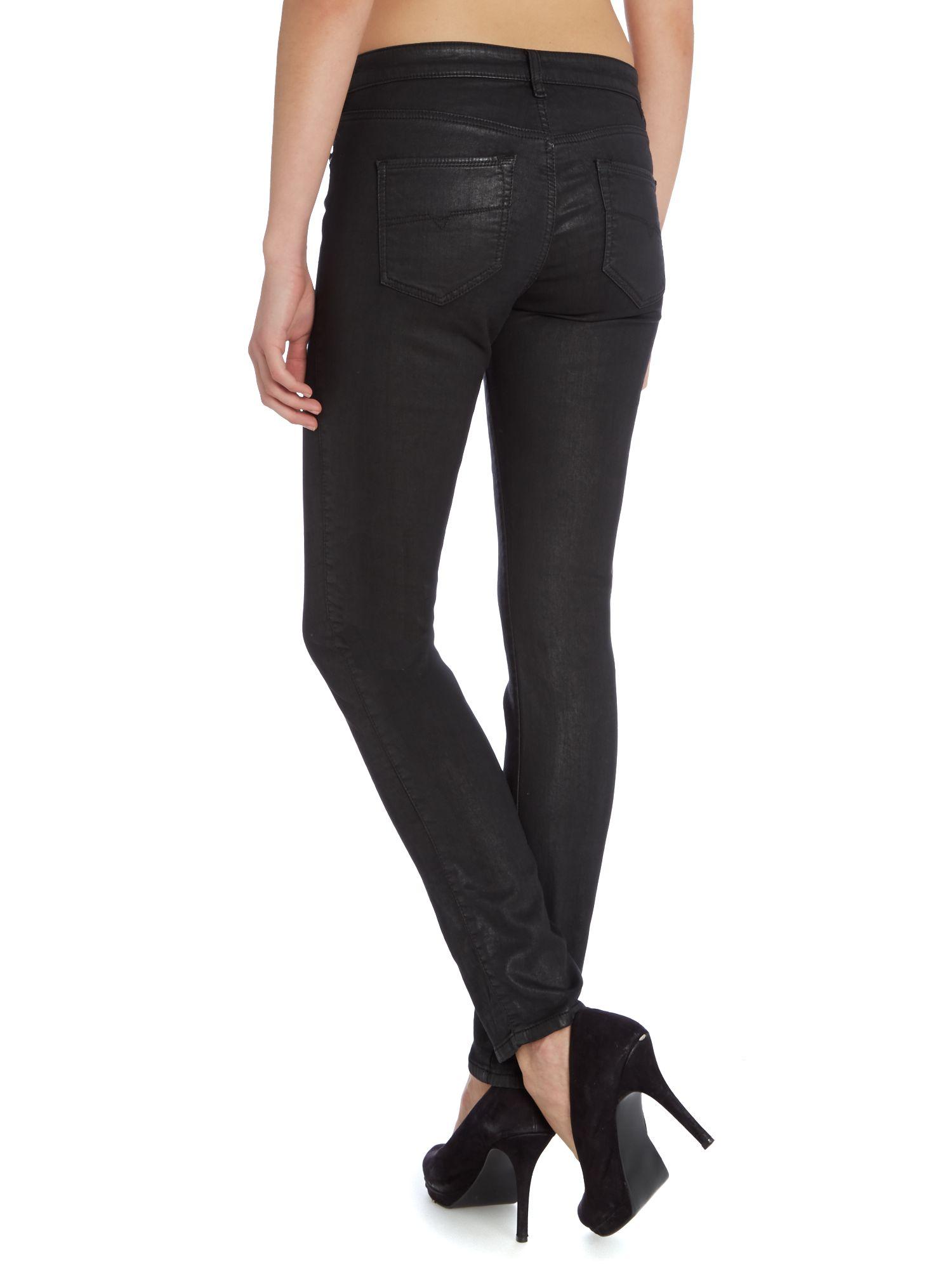 lyst diesel doris ne 0837c jogg jeans in black. Black Bedroom Furniture Sets. Home Design Ideas