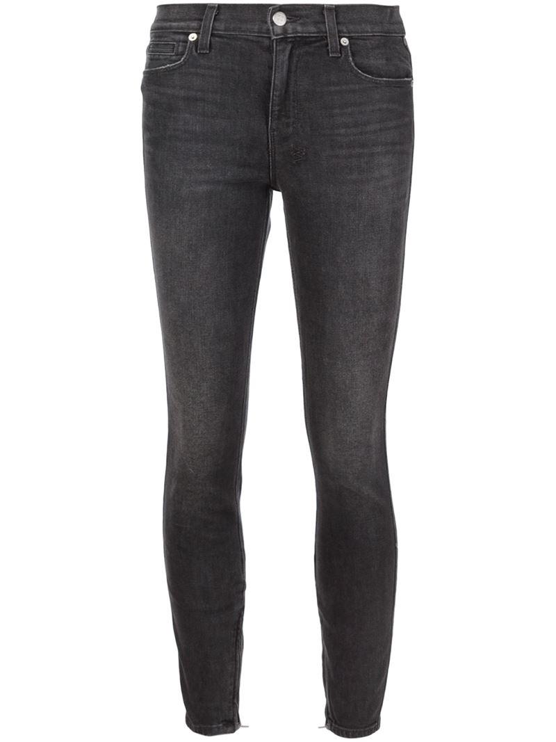 ksubi zipped skinny jeans in gray lyst. Black Bedroom Furniture Sets. Home Design Ideas
