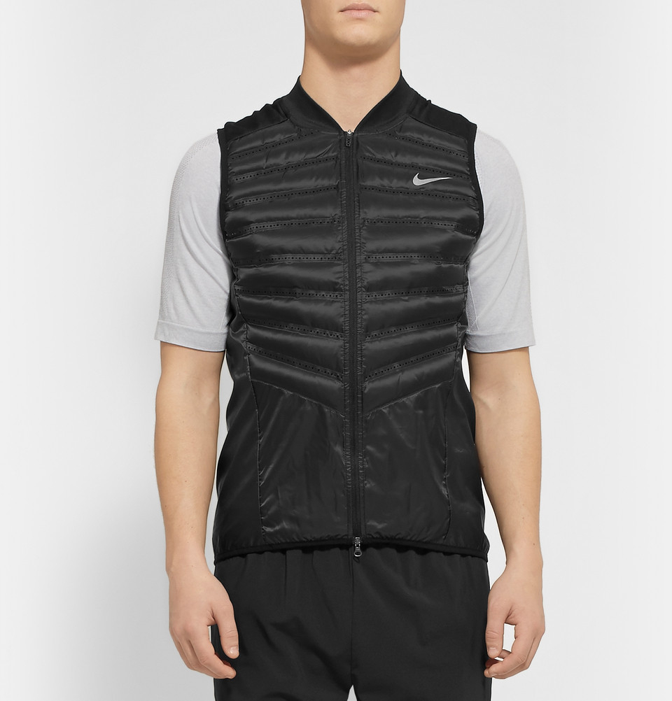 9b56360325ef Nike Aeroloft Running Down-Filled Quilted Gilet in Black for Men - Lyst
