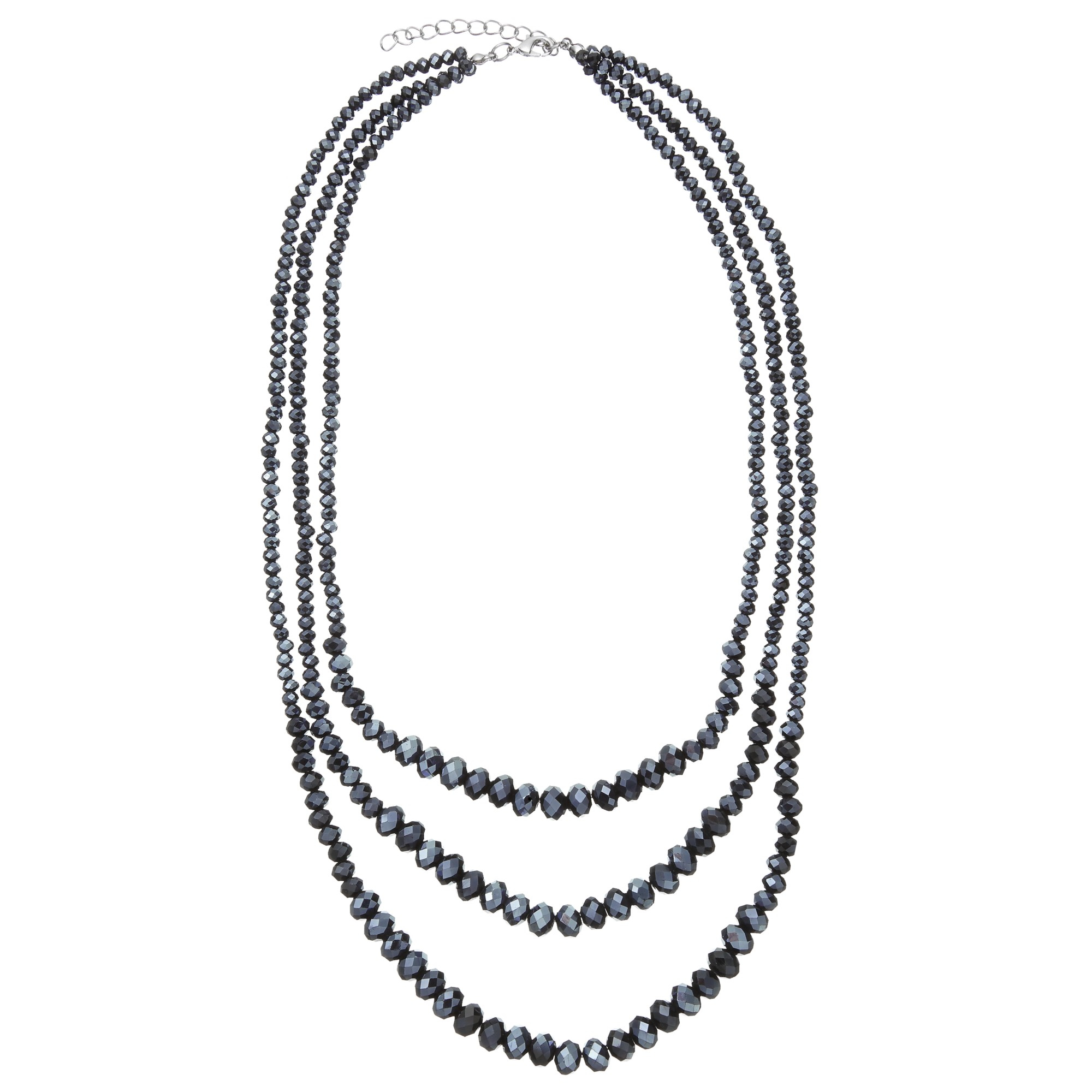 John Lewis Sparkle Short Layered Necklace in Navy (Blue)