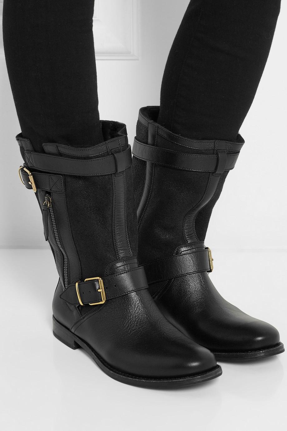 Burberry Leather Biker Boots vUwUhOozAX
