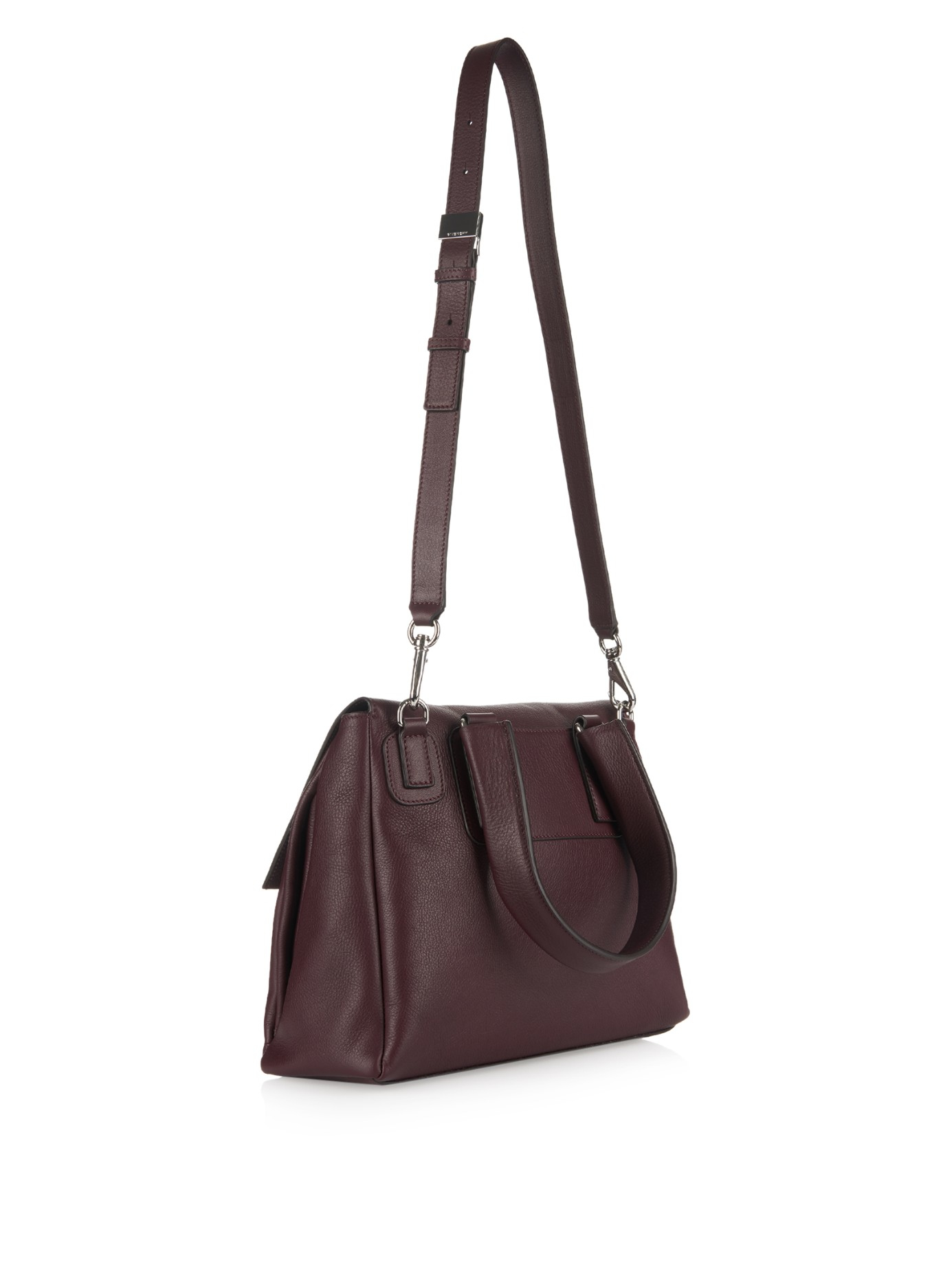 eefeac22f00e Givenchy Pandora Pure Small Leather Bag in Purple (BURGUNDY)