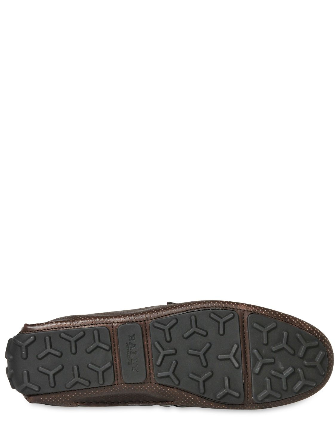 bally droteo leather driving shoes in brown for