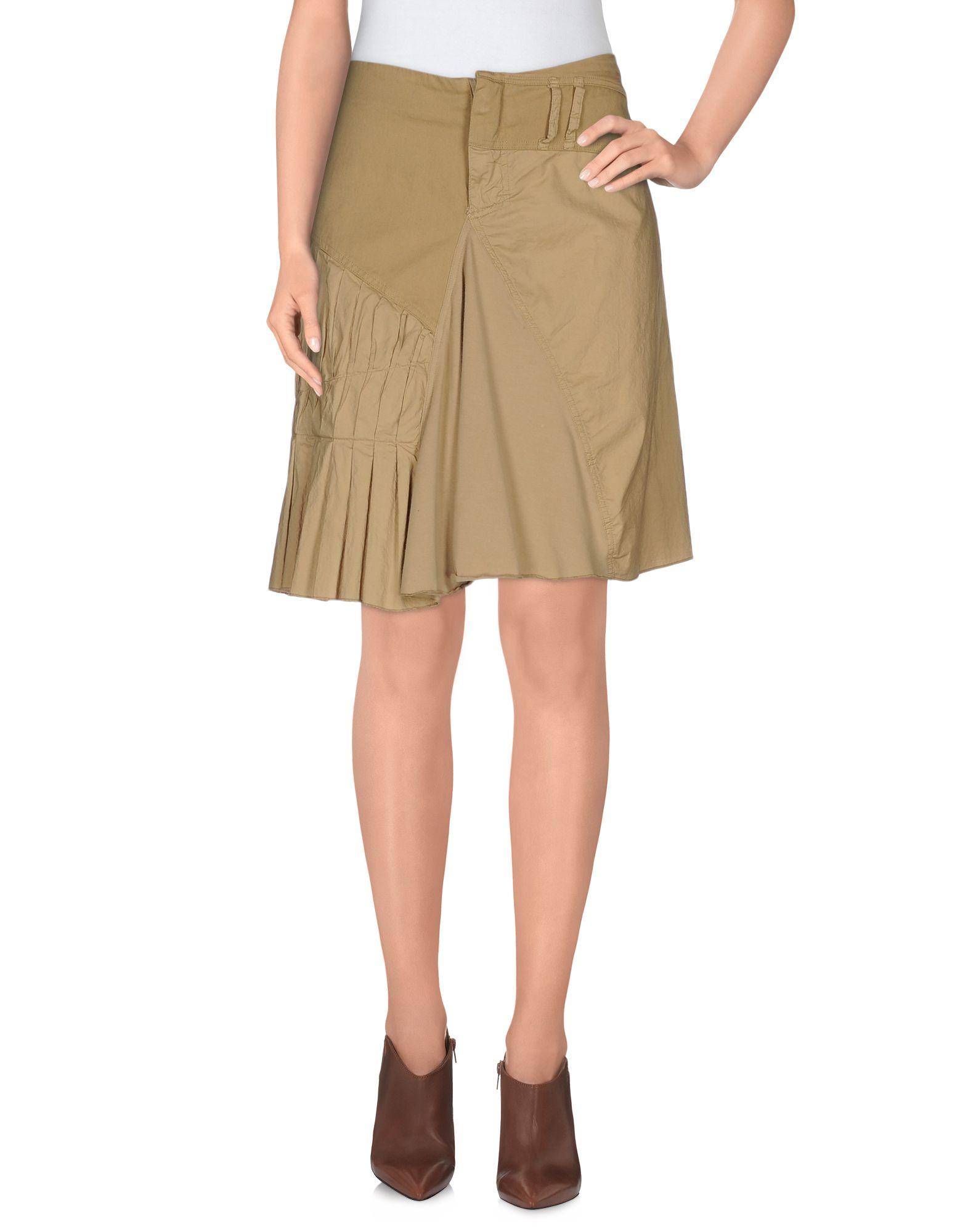 pianurastudio knee length skirt in khaki lyst