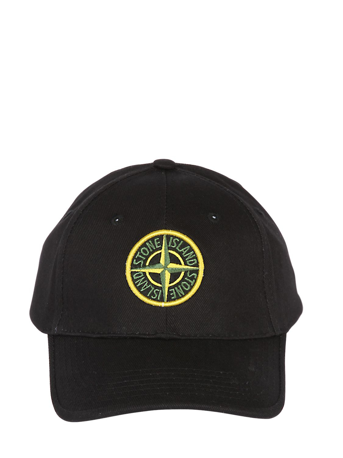 Lyst - Stone Island Cotton Canvas Baseball Hat in Black for Men a569779345