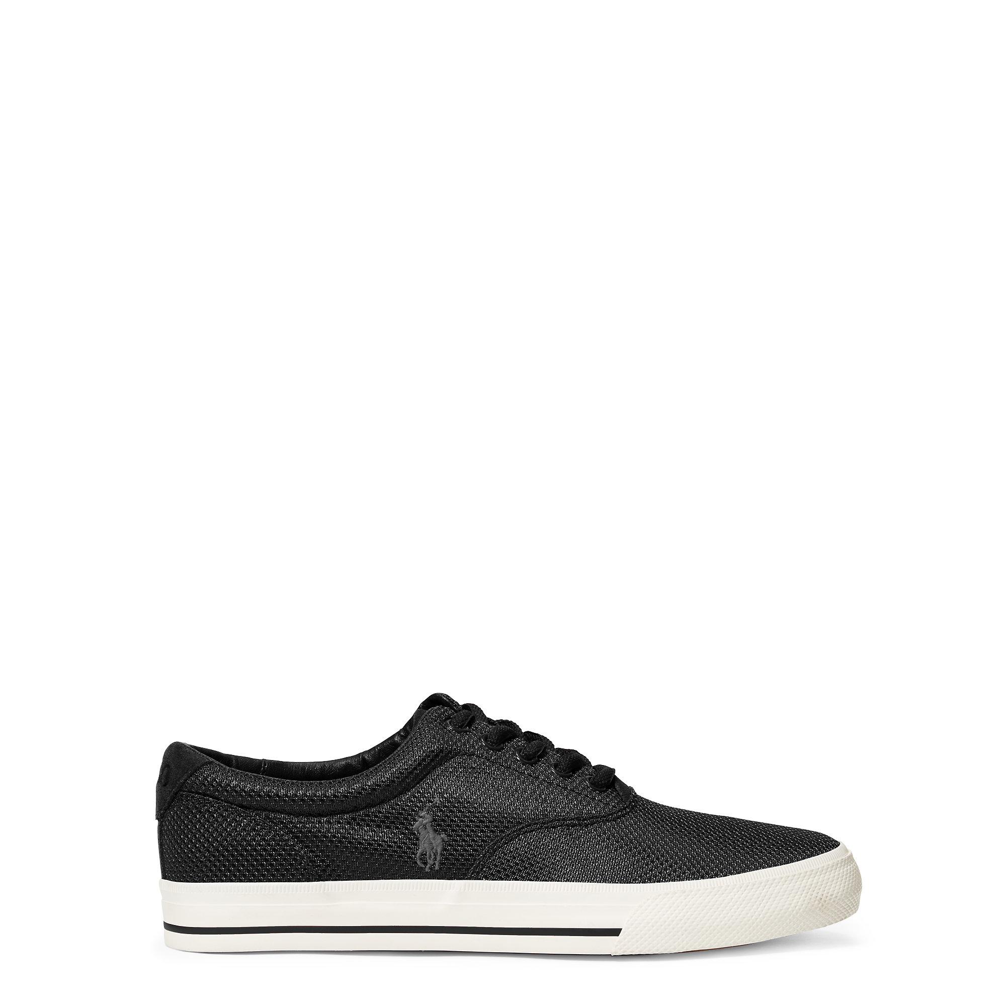 polo ralph lauren vaughn mesh sneaker in black for men lyst. Black Bedroom Furniture Sets. Home Design Ideas