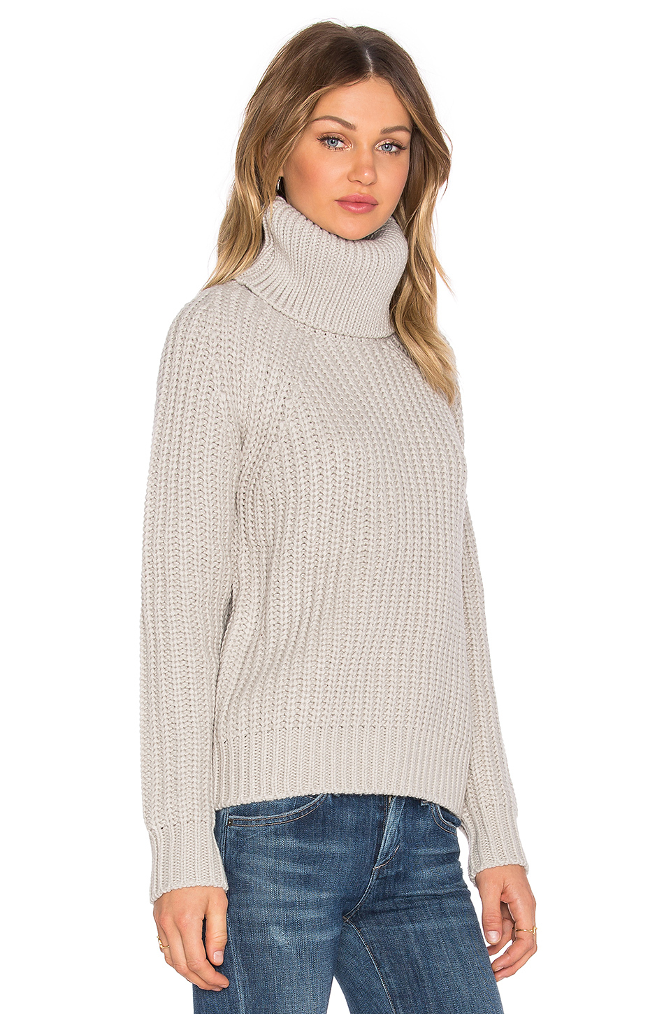 g star raw ave turtleneck sweater in natural lyst. Black Bedroom Furniture Sets. Home Design Ideas