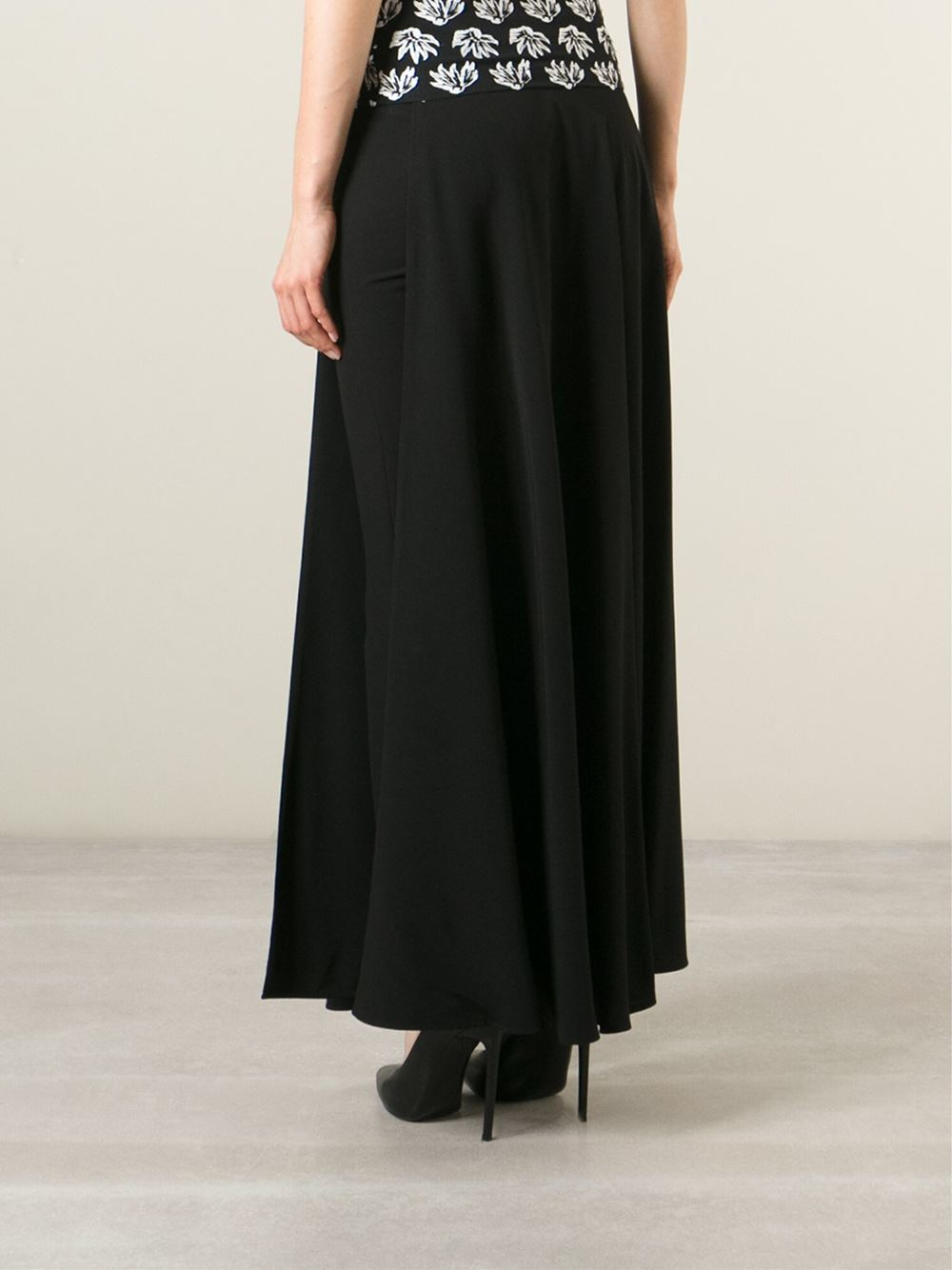jean paul gaultier draped maxi skirt in black save 60