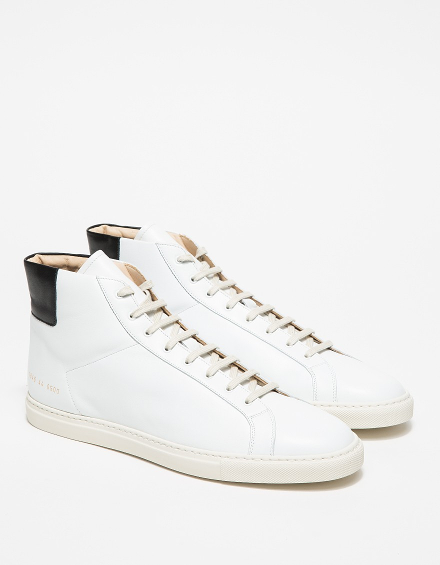 lyst common projects achilles retro high in white for men. Black Bedroom Furniture Sets. Home Design Ideas
