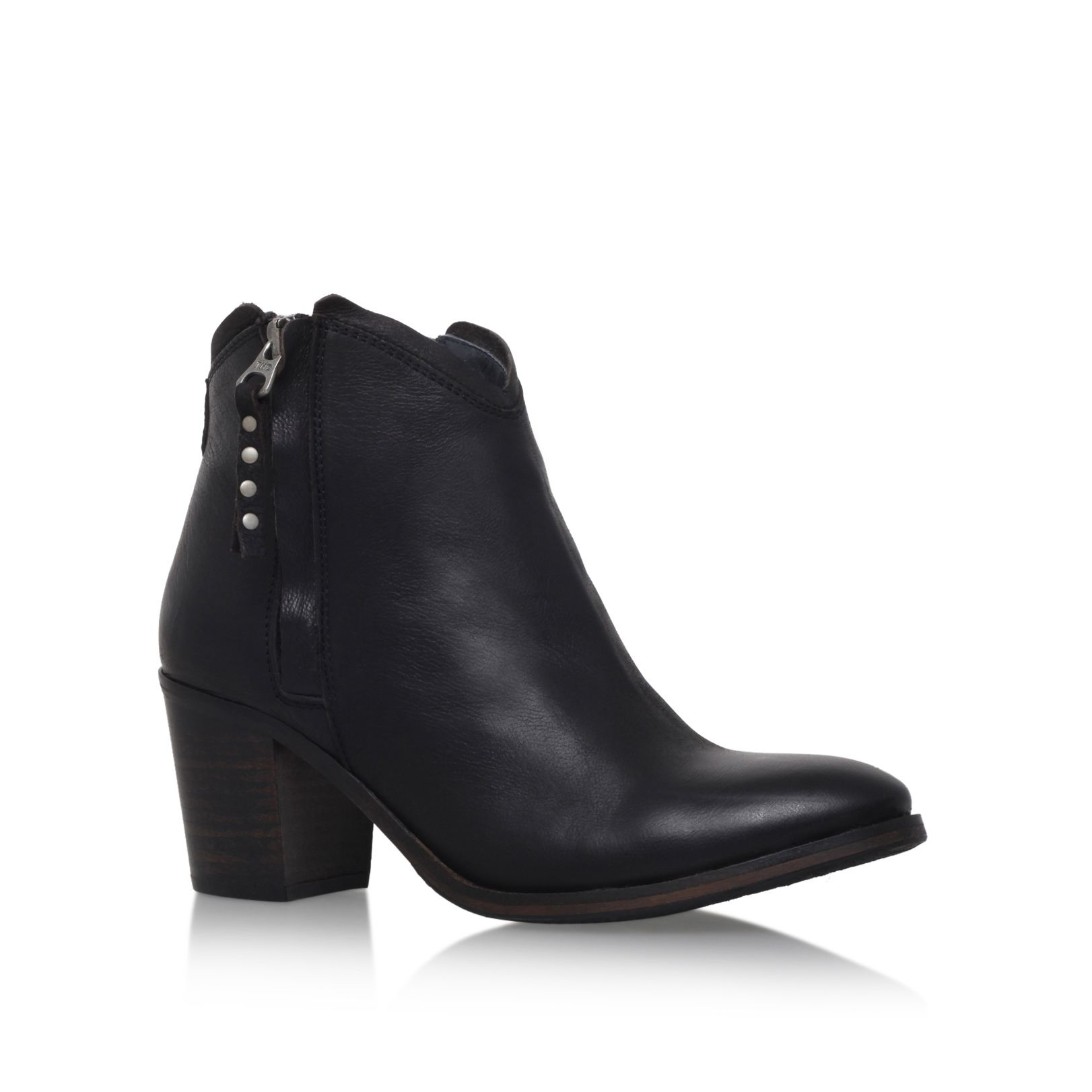 tommy hilfiger ivy 5a zip up ankle boots in black lyst. Black Bedroom Furniture Sets. Home Design Ideas