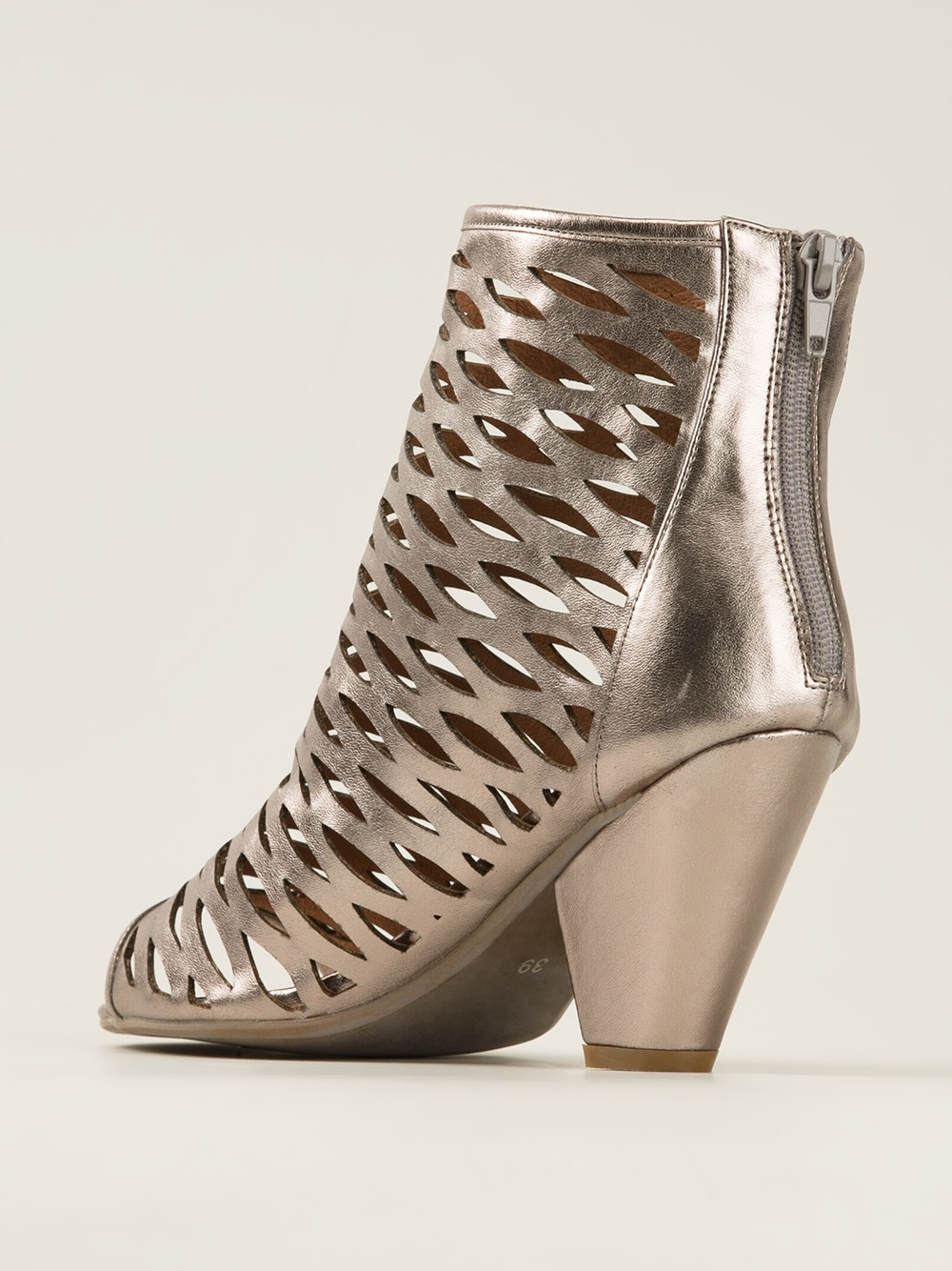 Lyst Jeffrey Campbell Produce Mesh Boot In Metallic