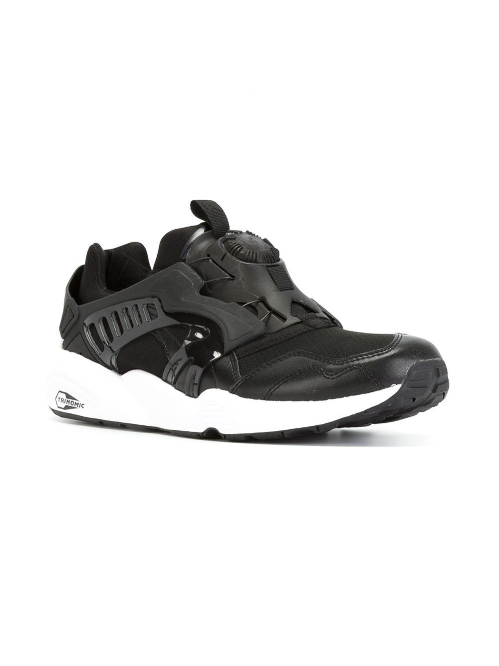 puma 39 modern trinomic disc blaze 39 sneakers in black for. Black Bedroom Furniture Sets. Home Design Ideas