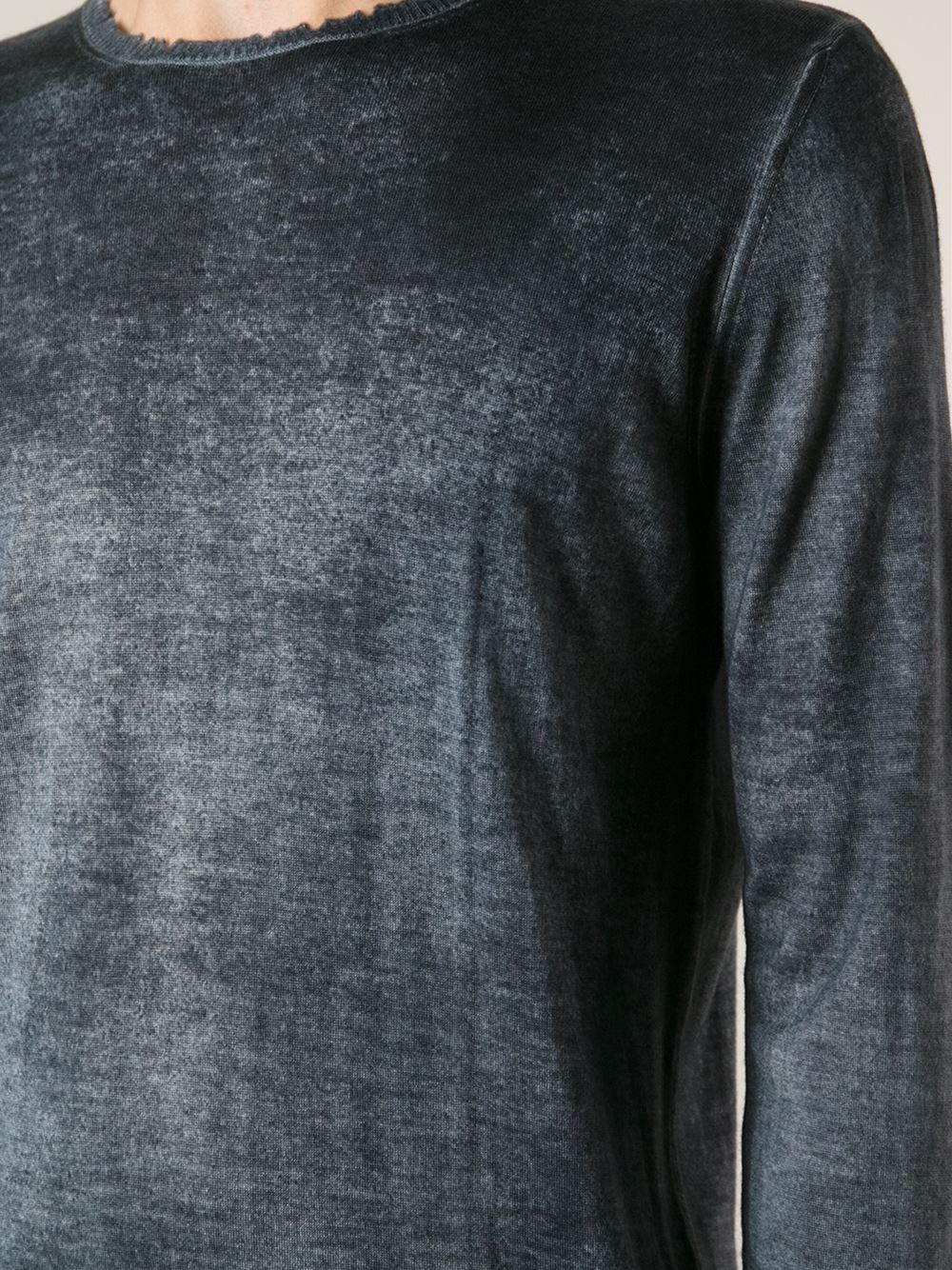 Avant Toi Distressed Raw Edge Sweater in Grey (Grey) for Men