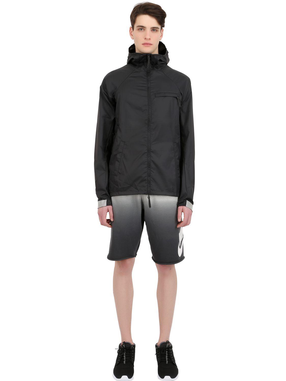 Nike Gradient Cotton Jogging Shorts in Grey/Black (Grey) for Men