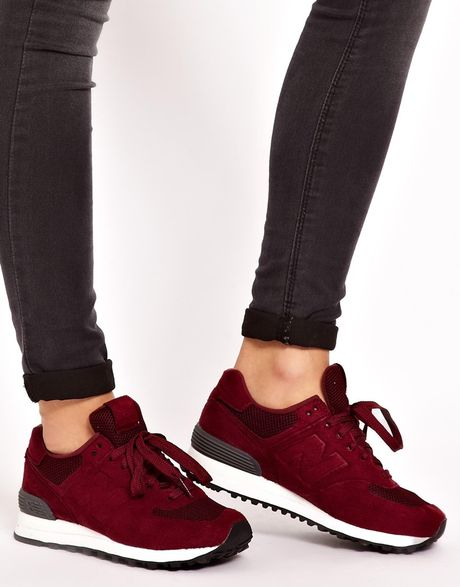 new balance 574 sonic burgundy trainers in red burgundy lyst. Black Bedroom Furniture Sets. Home Design Ideas
