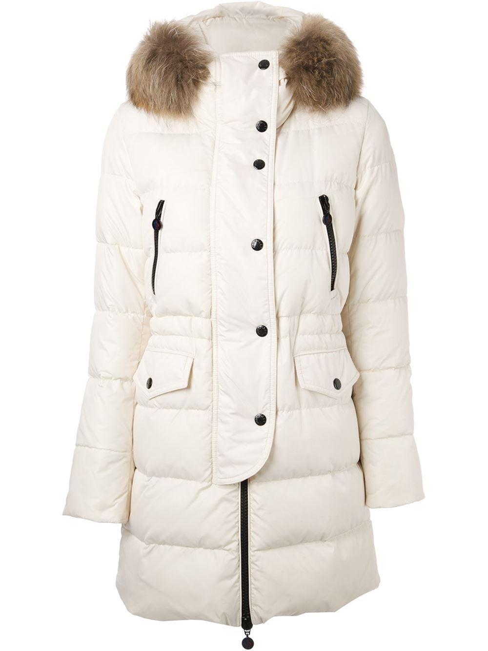Moncler Fragon Padded Coat in White