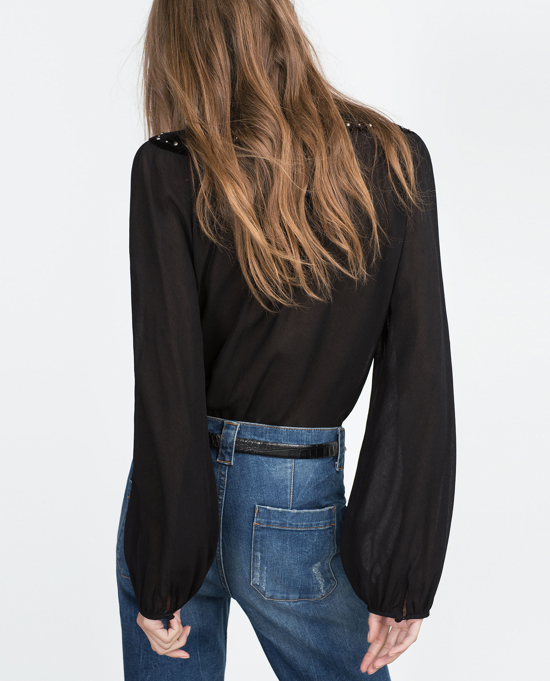 Women'S Velvet Blouse 115