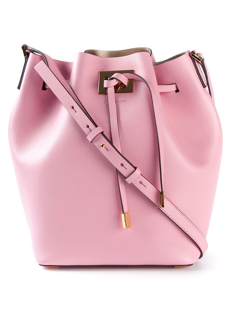ca576850e546cf Michael Kors 'Miranda' Bucket Bag in Pink - Lyst