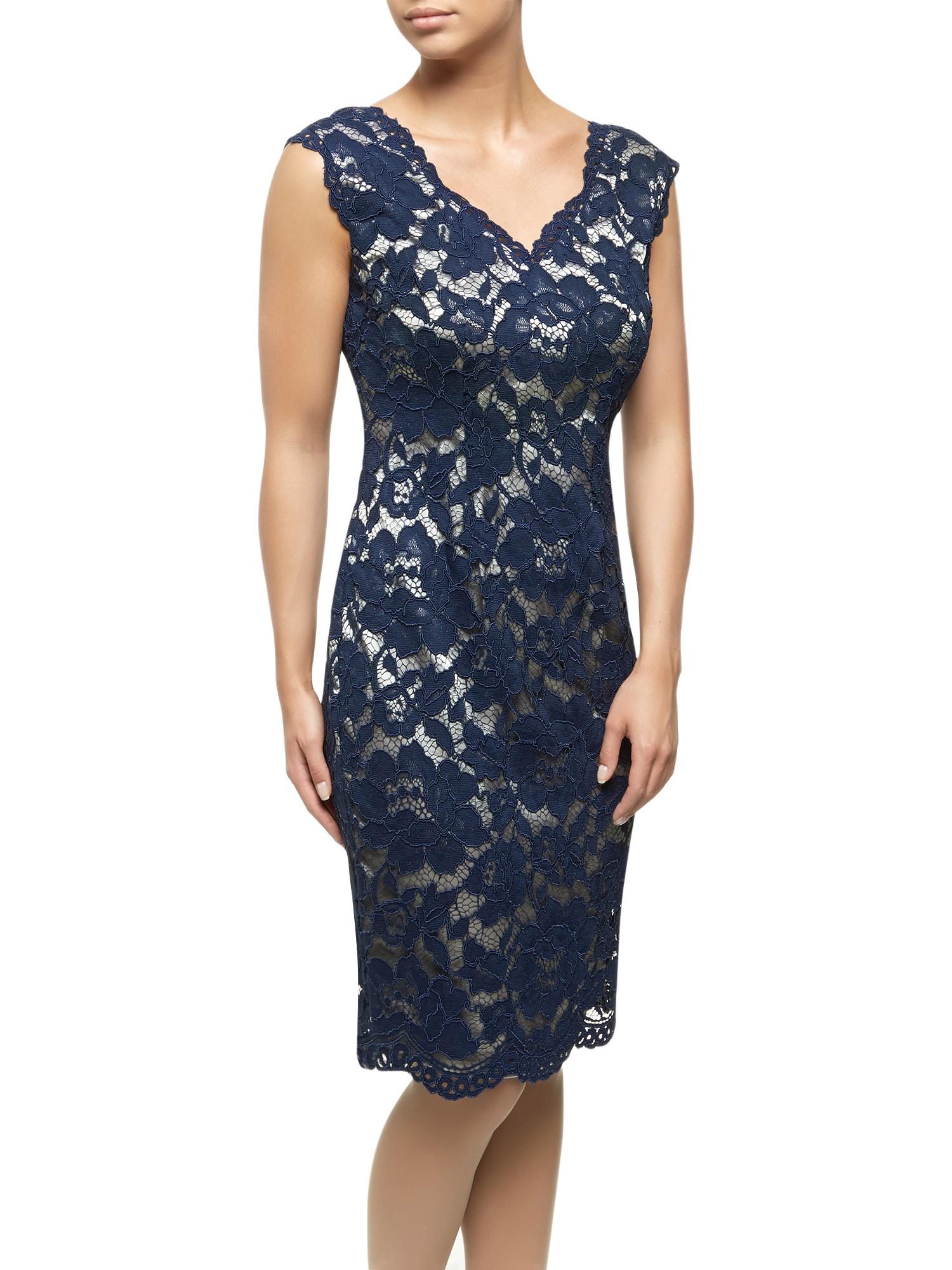 Jacques vert Opulent Lace Dress in Blue | Lyst