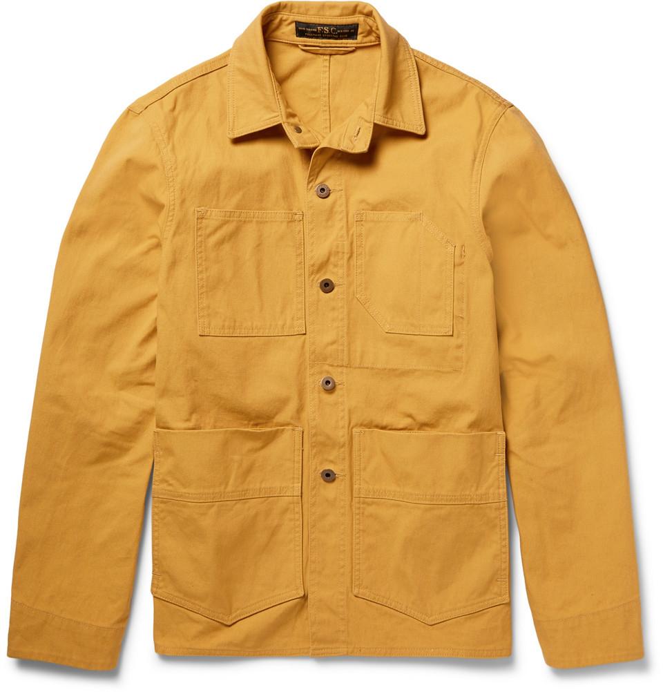Club Freemans Mustard Jacket Cotton Sporting canvas Washed qw0UaTx