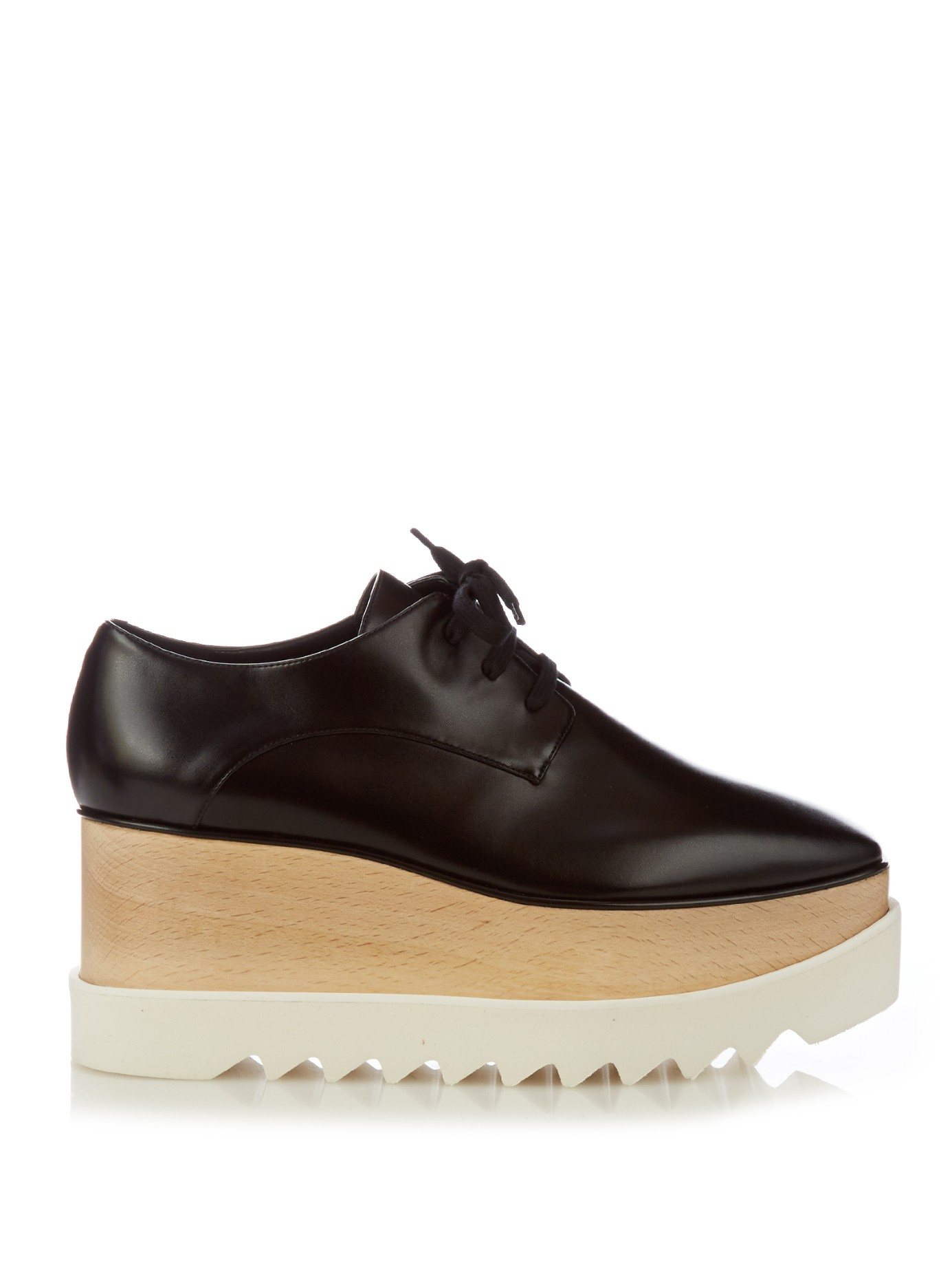 Stella mccartney Elyse Lace-Up Platform Shoes in Black | Lyst