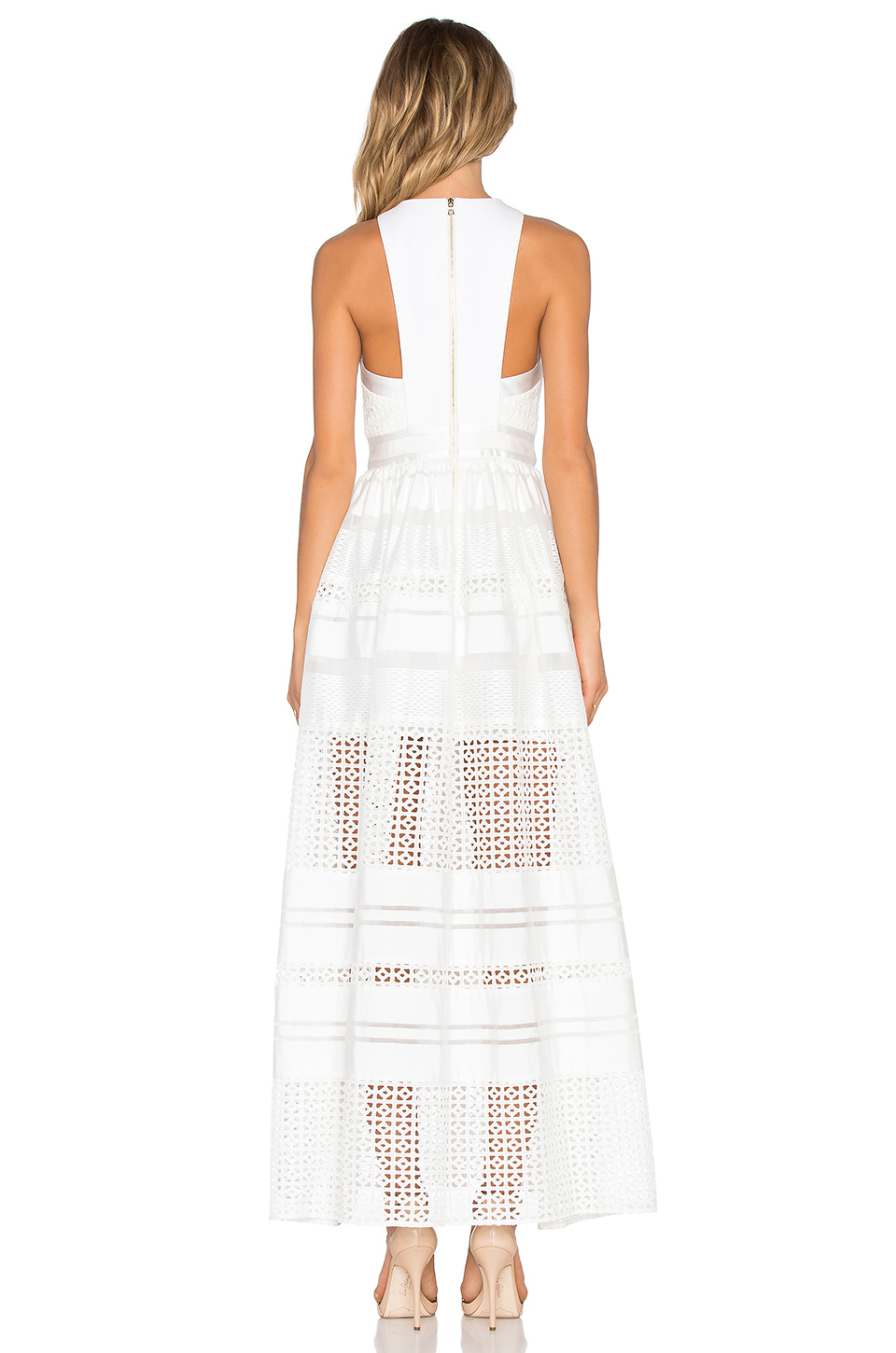 Lyst three floor zittel maxi dress in white for 11th floor apparel