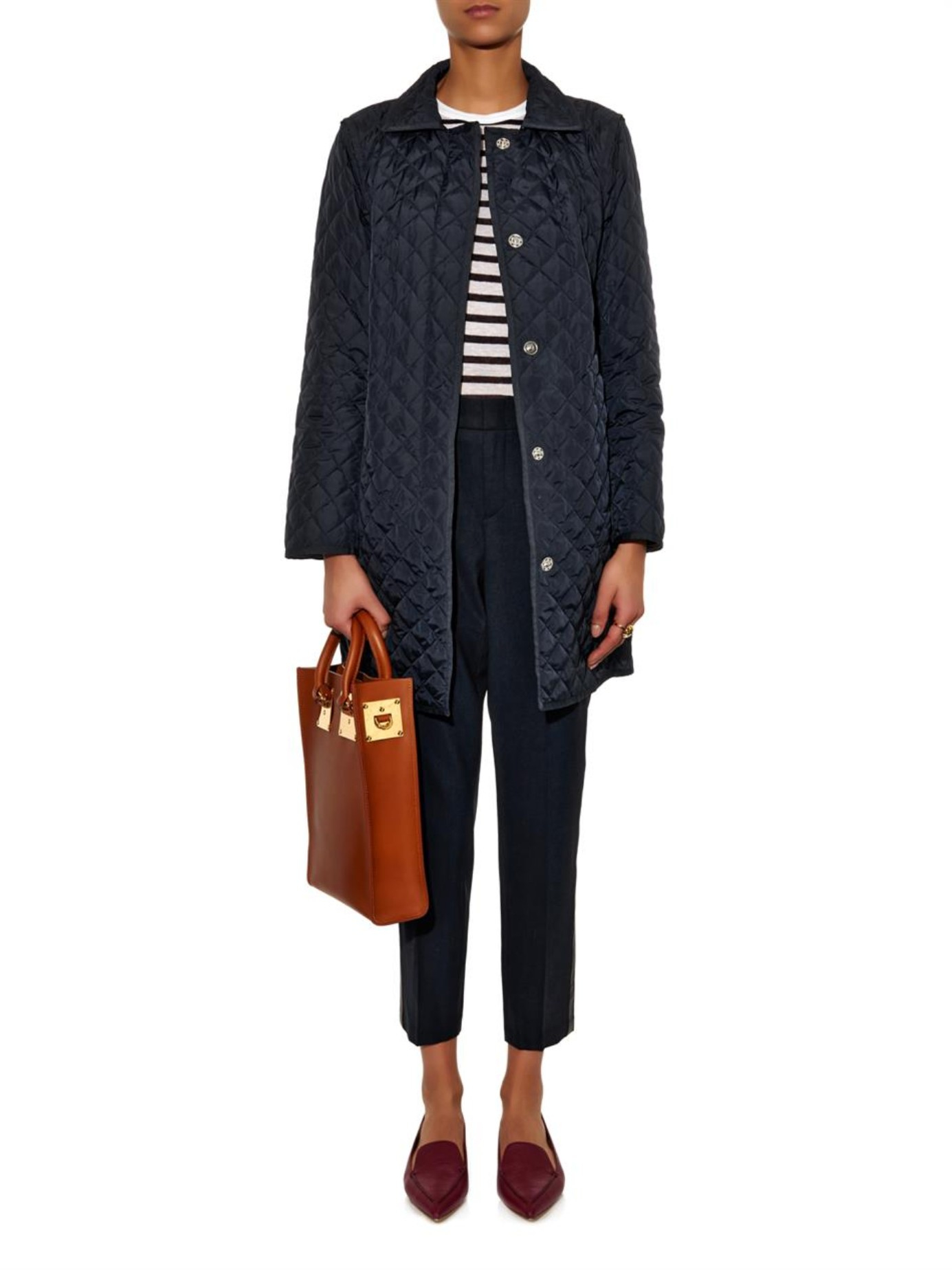 Weekend By Maxmara Bozen Quilted Coat In Blue Lyst
