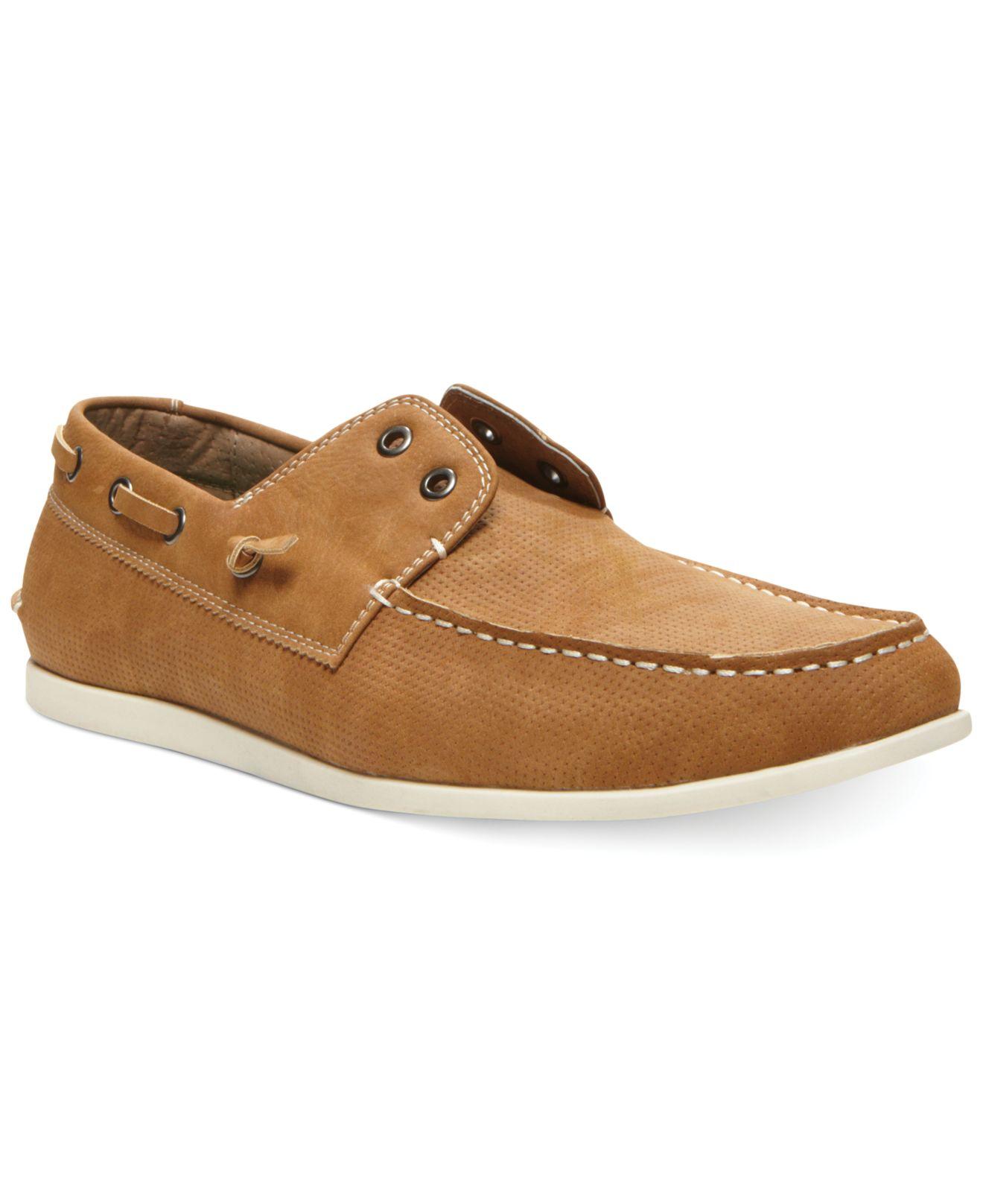 3742c6c55d3 Steve Madden Brown Madden Game On Boat Shoes for men