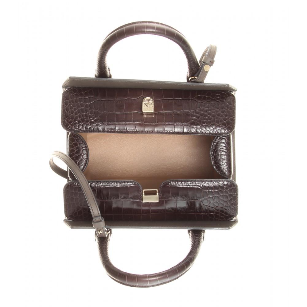 Victoria beckham Mini Victoria Embossed Leather Shoulder ...