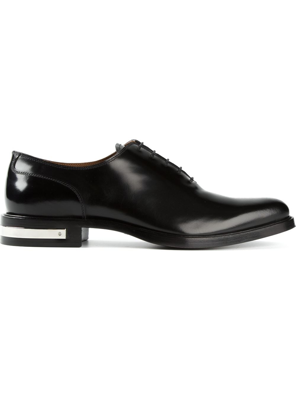 givenchy metallic heel oxford shoes in black for lyst