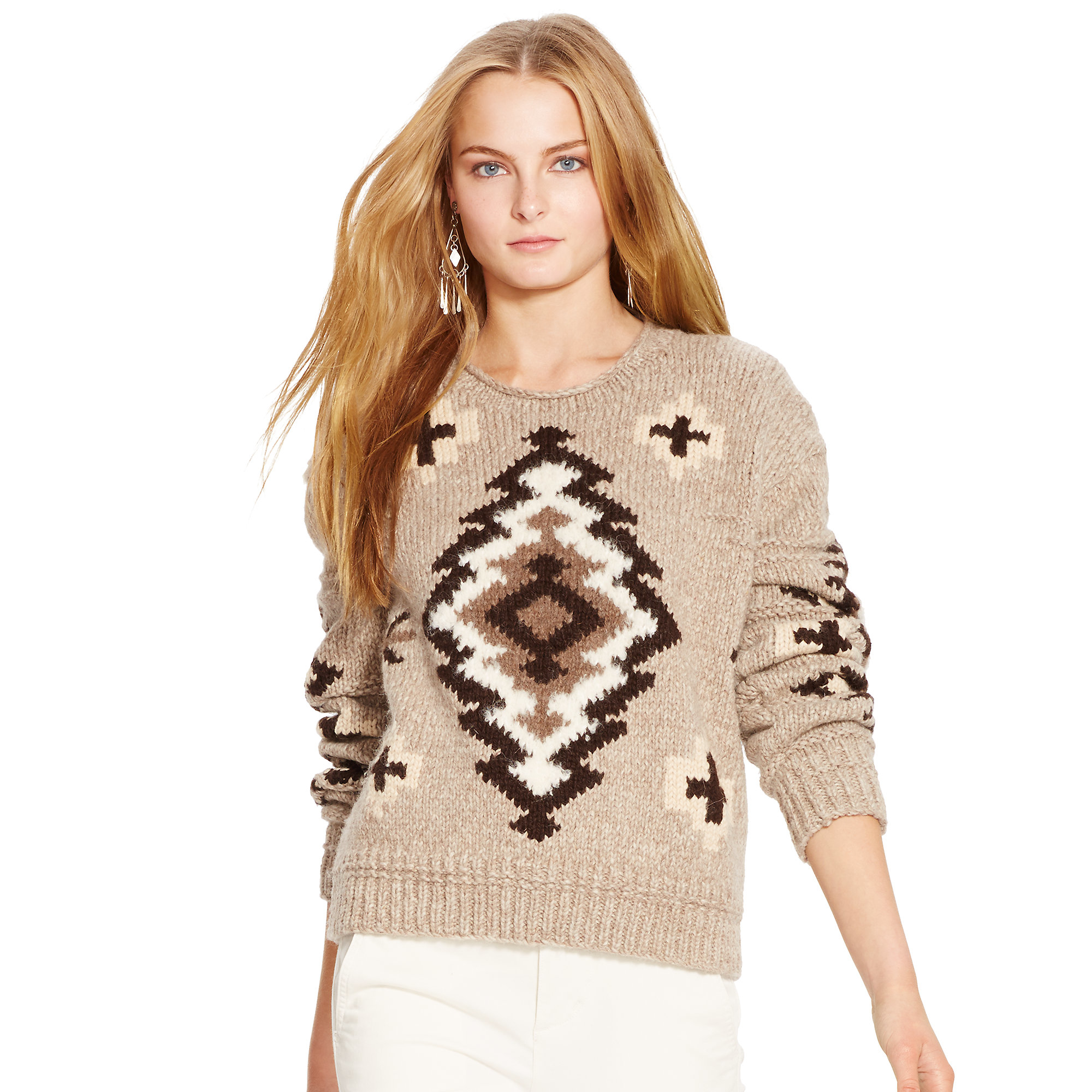 Polo ralph lauren Wool-cashmere Sweater in Brown | Lyst