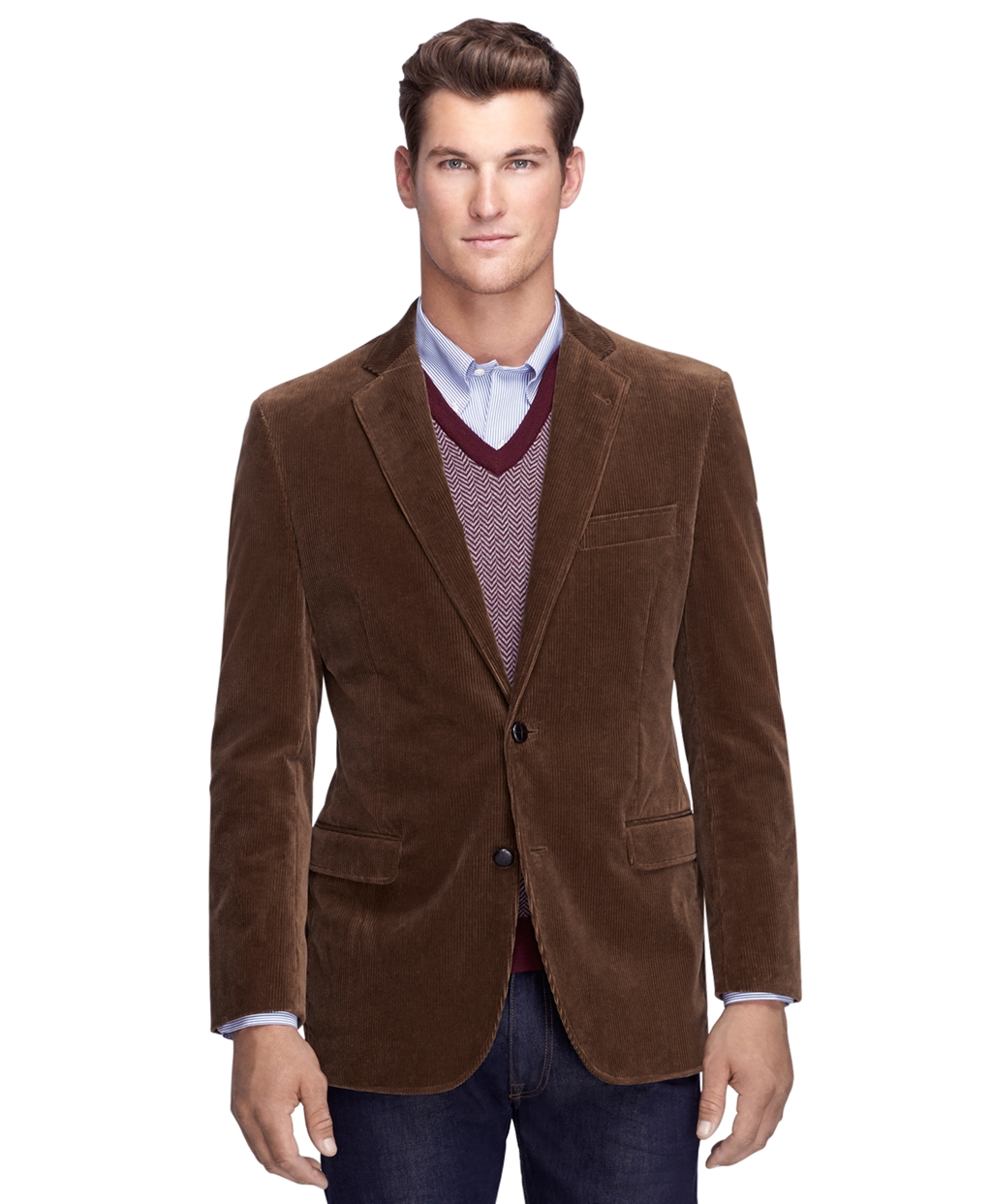 Brooks Brothers Fitzgerald Fit Corduroy Sport Coat In