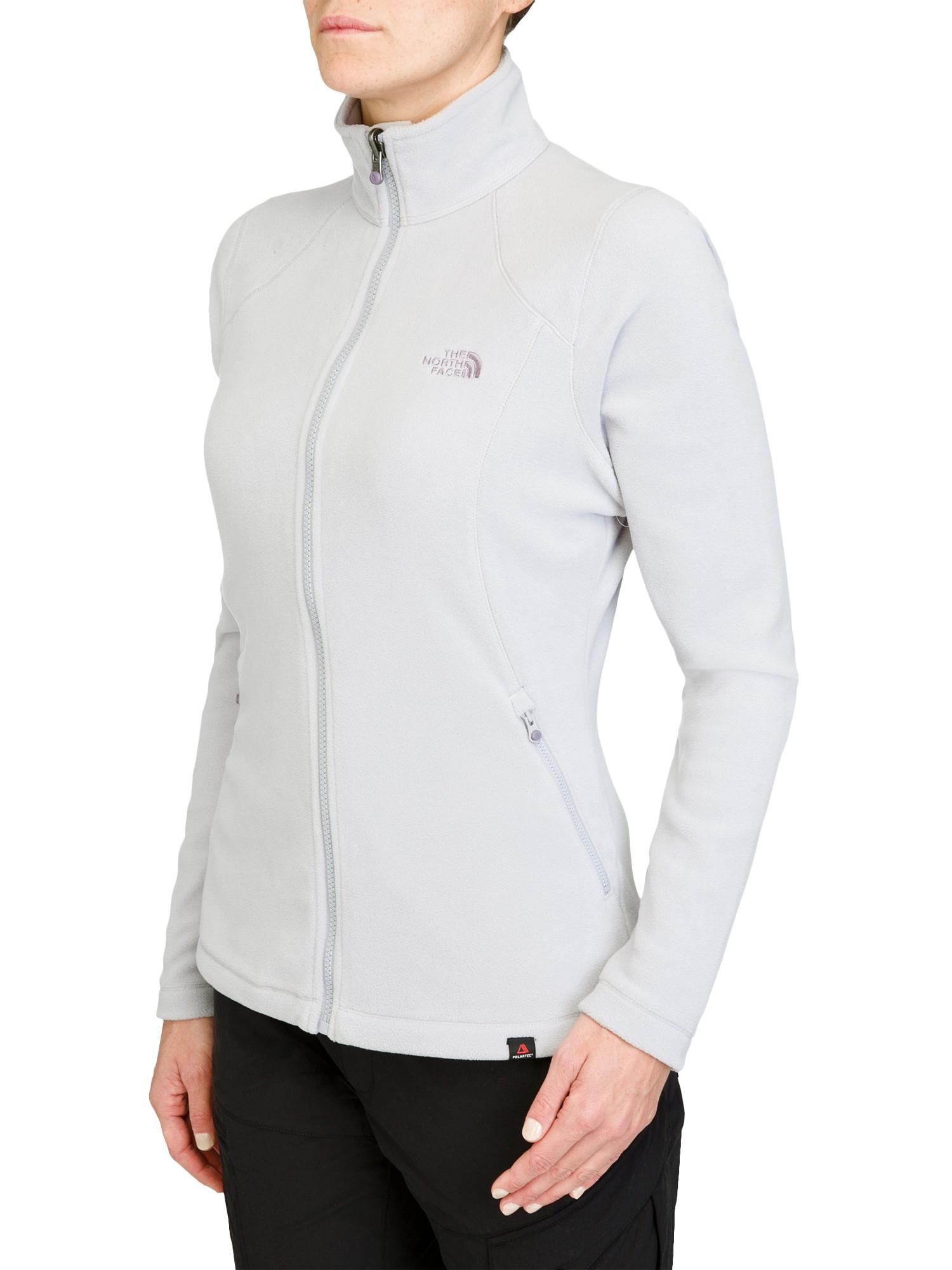 2dff965c3 The North Face Women'S 100 Glacier Full Zip Fleece Jacket in Gray - Lyst