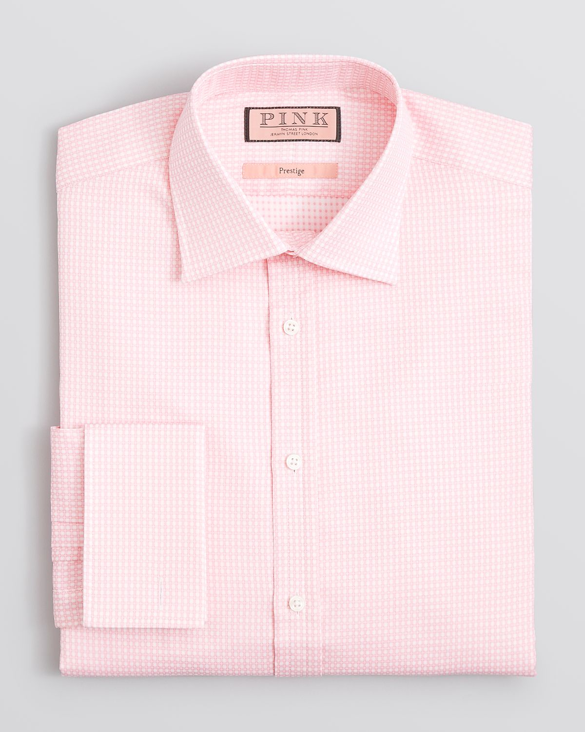Thomas Pink Ryan Texture Dress Shirt Regular Fit In Pink