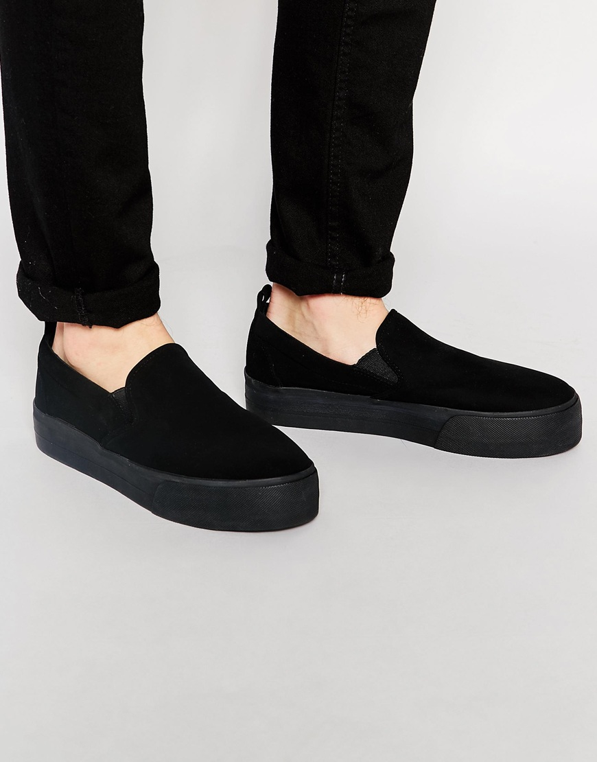 ASOS DESIGN slip on plimsolls in mesh with chunky sole Y3AoroM2Dm