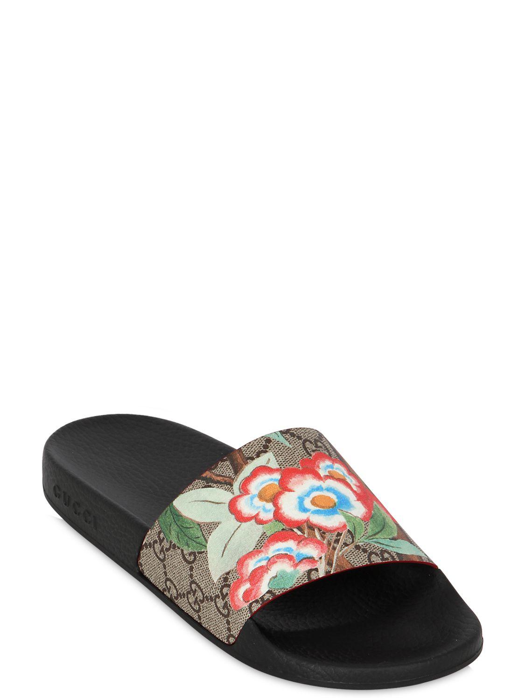 88e1ba27 Gucci Multicolor 20mm Pursuit Gg Supreme Slide Sandals