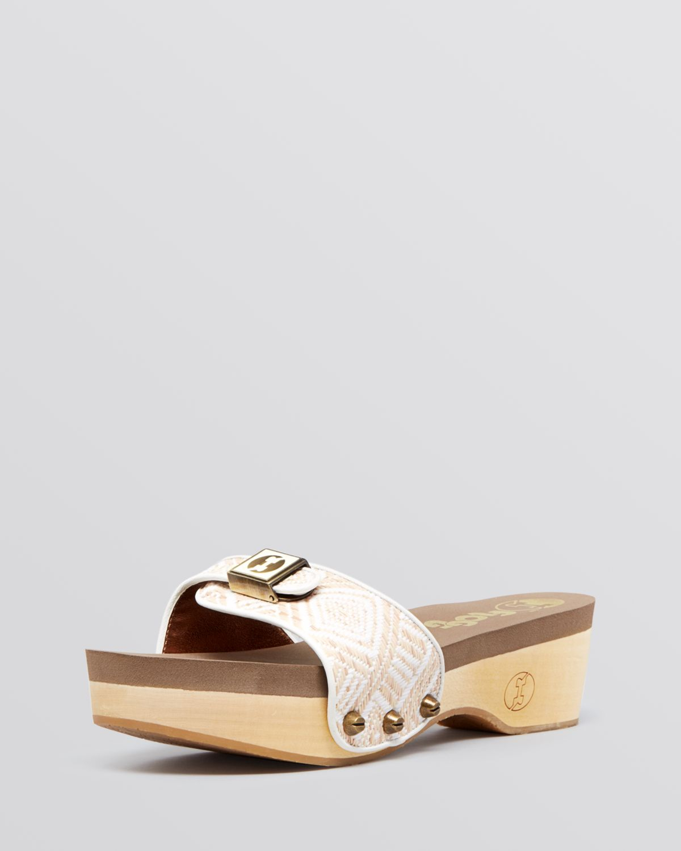 Flogg Slide Platform Clog Sandals Milana In White Lyst
