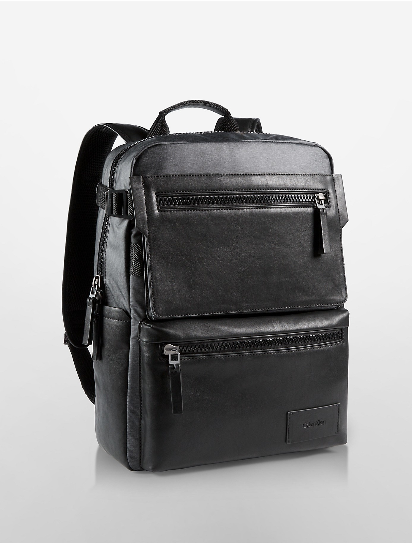 calvin klein jeans vaughn square backpack in gray for men heathered slate lyst. Black Bedroom Furniture Sets. Home Design Ideas